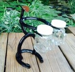 Horseshoe Cowboy Salt and Pepper Shaker Holder